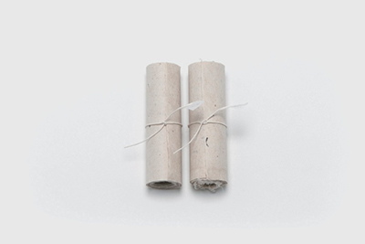 Koyomi uta (almanac scrolls) Mulberry washi(jado paper by Seigi Nishida)Charcoal washed with spring water