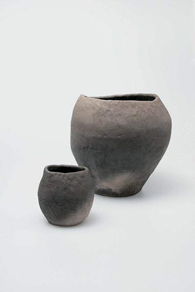 Water vessel, water bowl Field-fired Iwami white clay Naoto Ishii