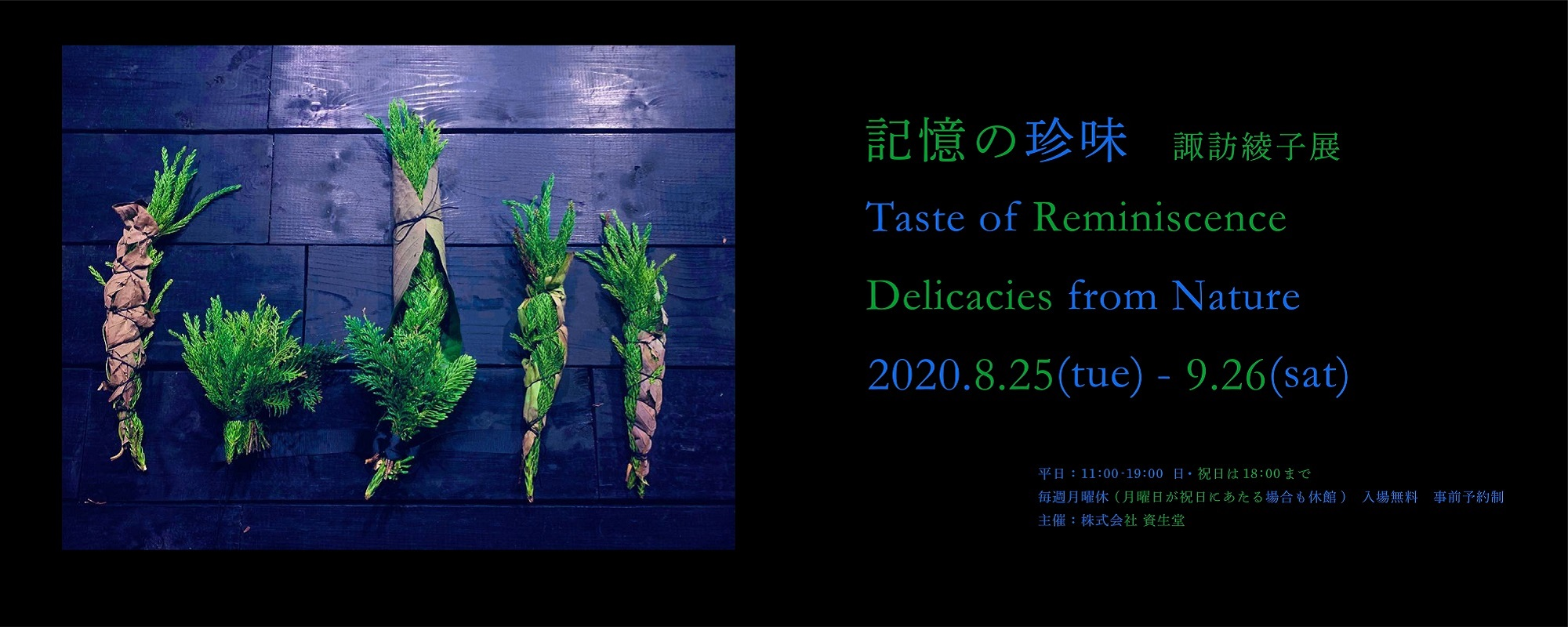 """""""Taste of Reminiscence, Delicacies from Nature: Ayako Suwa Exhibition""""  will run from August 25(Tue) —September 26(Sat), 2020"""