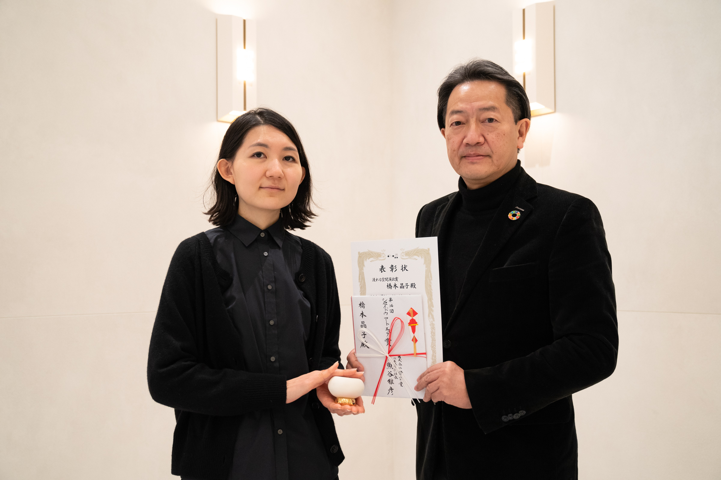 橋本晶子氏と、青木淳・資生堂 常務 社会価値創造本部長