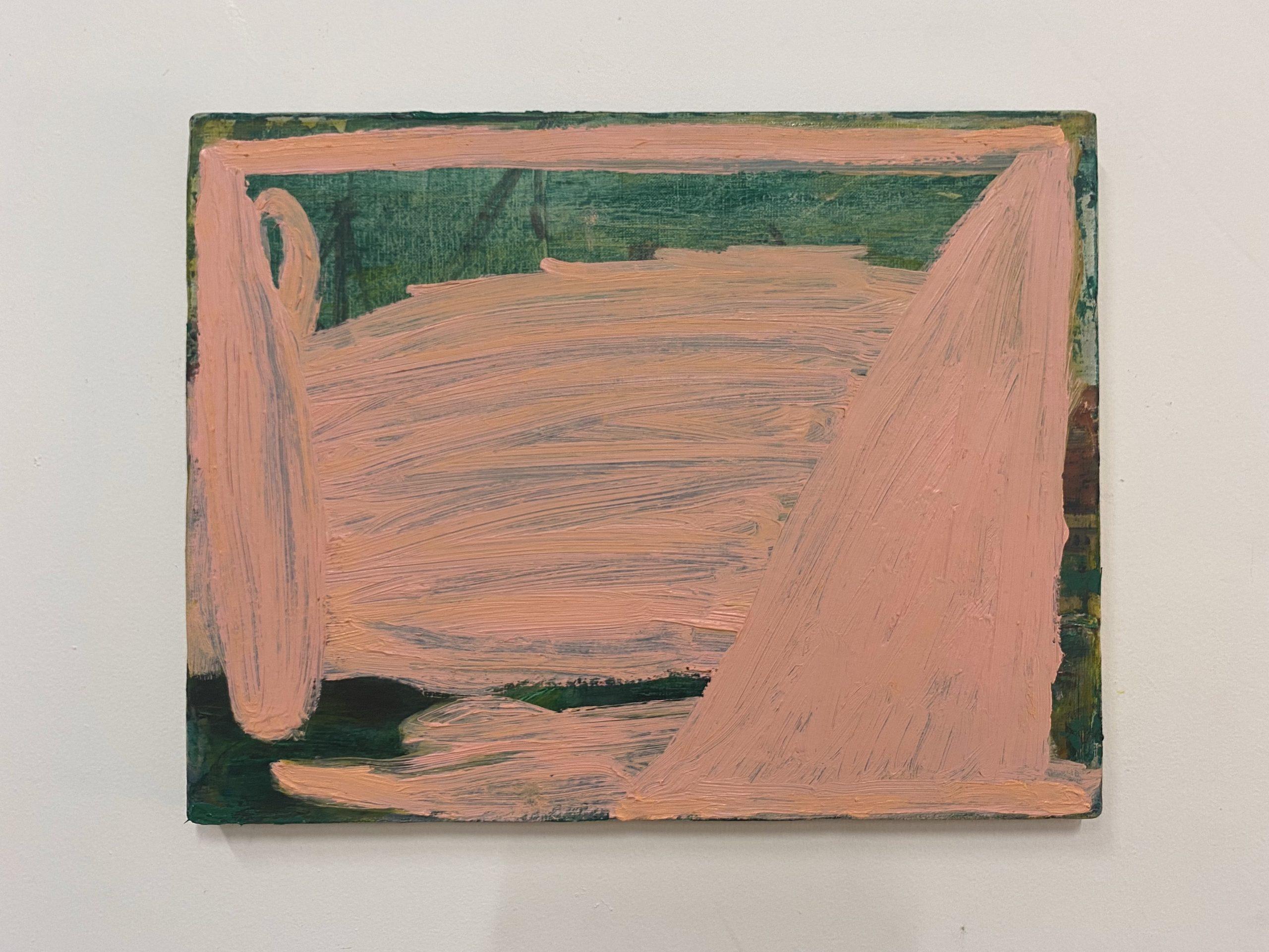 杉戸洋《Untitled》 2021年 oil on canvas 320×410㎜